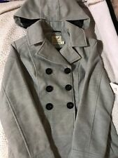 ba705056cd Faded Glory Women s Double-Breasted Faux Wool Peacoat With removable hood 2X