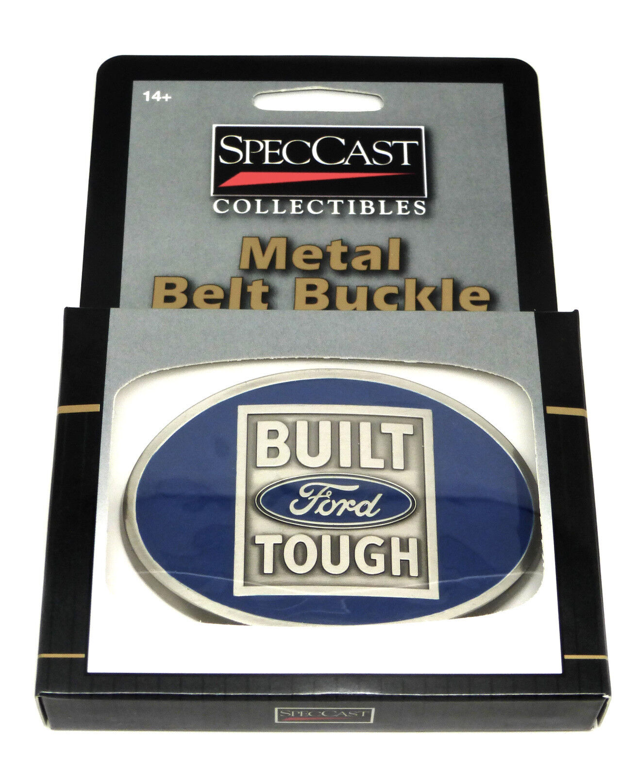 Ford Belt Buckle Built Tough Pick Up Spec Cast Authentic Officially Licensed