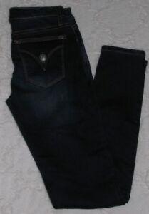 VIGOSS-Skinny-Jean-Girls-12-Dark-Wash-Flap-Pocket-Adjustable-Waist-Stretch-Denim