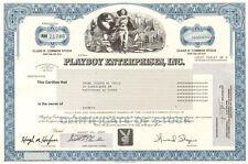 Playboy   2009 Hugh Hefner bunny vintage magazine old stock certificate