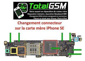 Changement Reparation Connecteur Carte Mere Apple Iphone Se Professionnel Ebay