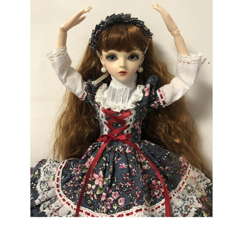 Handmade 60cm BJD Doll 1//3 Girl Free Make Up Dress Wig Shoes Changeable Eyes Toy