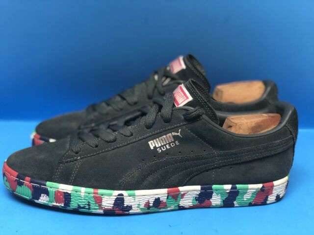 Puma Suede Classic Men's Shoes Size US 11.5 Very Rare Mixed Colored Soles