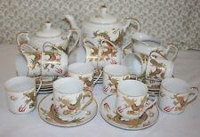 Vintage Japanese Export Eggshell Porcelain 12-Setting Tea / Coffee Set c.1950