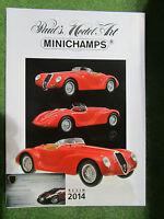Catalogue Minichamps Résine 2014