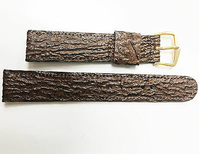 Genuine Leather Calf Lizard Grain 11//16 18mm Stainless Steel Gold Buckle Band