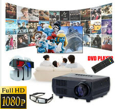 3000lumens 1080P LED Projector Full HD 3D Home Theater Cinema TV Video HDMI PC V