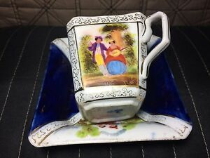 Rear-Cobalt-blue-Square-Helena-Dresden-Hand-Painted-Cup-and-Saucer