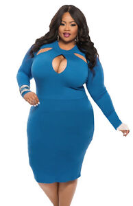 New-Women-Plus-Size-Bodycon-Evening-Party-Dress-Bandage-Cocktail-Clubwear-Dress