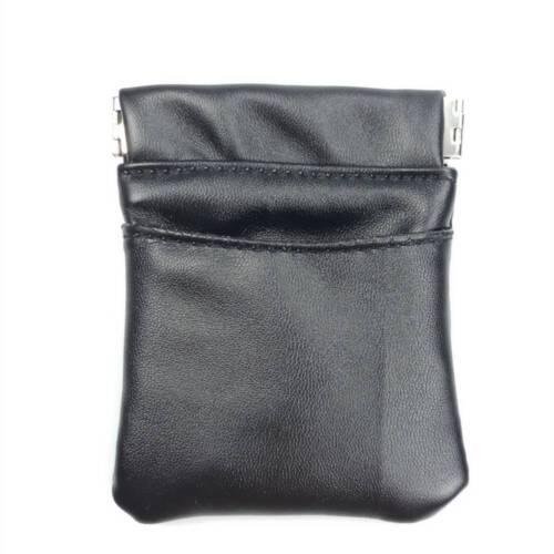 Mini Black Coin Purse Pu Leder Geldbörse Taschen Key Card Holder Business