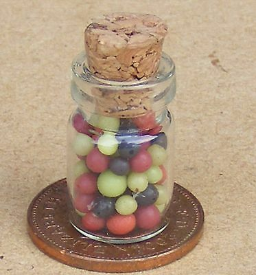 1:12 Scale Set Of 4 Mixed Pickle Jars Tumdee Dolls House Miniature Kitchen 3