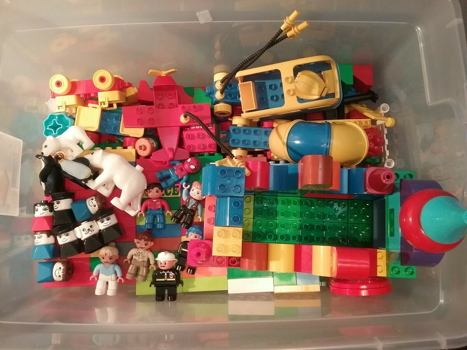 HUGE LOT LEGO DUPLO 450 + PCS 12 LBS FIGURES ANIMALS TRAILERS VEHICLES WINDOWS