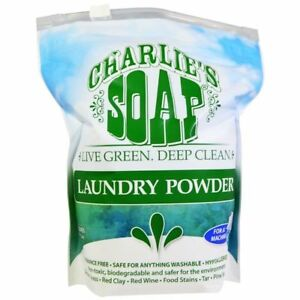 NEW-CHARLIES-039-SOAP-INC-LAUNDRY-POWDER-DETERGENT-FRAGRANCE-FREE-HYPOALLERGENIC