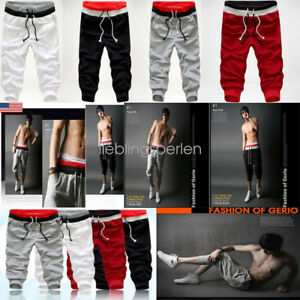 2018-Casual-Men-Baggy-Jogger-Trousers-Shorts-Sports-Pants-Harem-Training-Dance