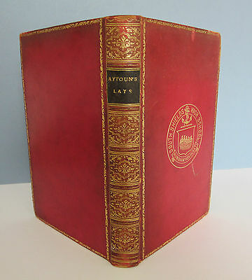 LEATHER BOUND Lays of the Scottish Cavaliers by W E Aytoun - 1886
