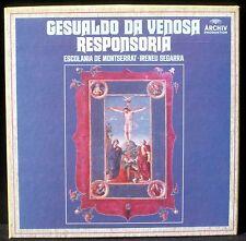 Gesualdo Responsoria  Escolania de Montserrat  I.Segarra 3 x LP M, BX EX +