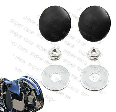 1Pair Black Inner Fairing Mirror Plugs for Harley Street Glide Bating 96-16