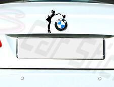 Sexy Hausmädchen Lady Girl  Putzfrau BMW Audi VW Skoda... Aufkleber Sticker Logo