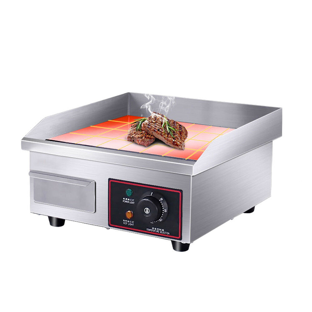1500w 14 commercial electric countertop griddle flat