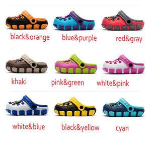 HOT-Kids-Baby-Girls-Boy-Toddler-Sandals-Slippers-Beach-Clogs-Pumps-Cartoon-Shoes