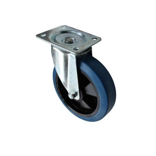 Set 200 mm Blue wheels elastik rôles comme lenkrolle 2l+2b transport rôles