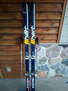 Vintage-Hart-170cm-Skis-With-S222-SALOMON-BINDINGS-JONES-Adjustable-Poles-Nice