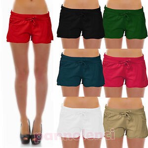 disfrute del envío de cortesía nueva productos buscar oficial Detalles de Shorts Pantalones Cortos Corto Algodón Mujer Pantalones Hot  Pants Cordón As-8090
