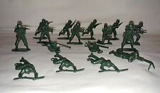 Lot of 16 Mini Green Plastic Army Men made in Hong Kong