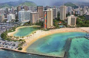 Details About Hilton Rainbow Tower Waikiki Honolulu Oahu Hawaii Beach Hotel Etc Postcard