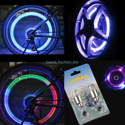 2pcs LED Motorcycle Cycling Bike Bicycle Wheel Tire Valve Light Lamp