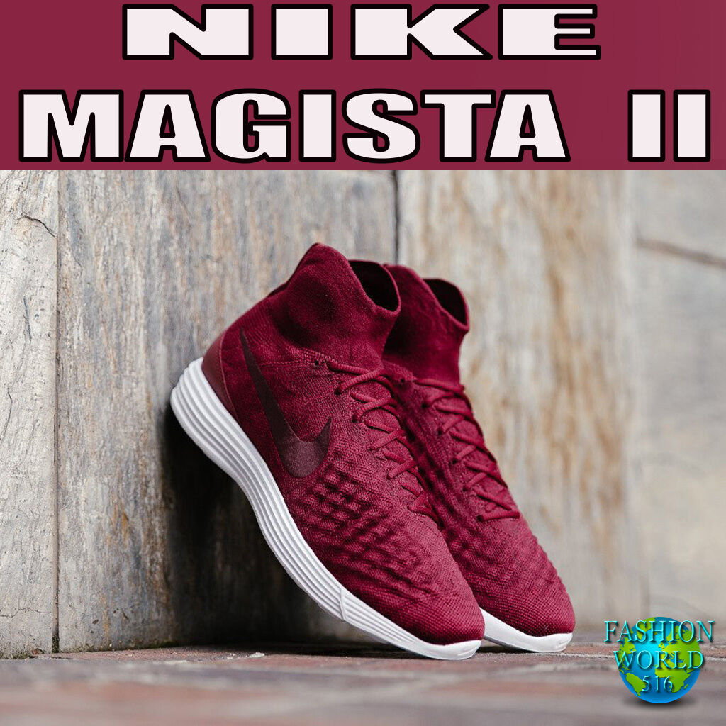 Nike hombre Talla Flyknit 10 lunar magista II Flyknit Talla zapatilla de Running Team Rojo 852614-600 da2890