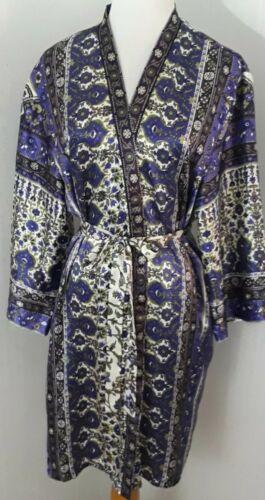 Womens Oscar De la Renta Boho Style Kimono Robe Pu