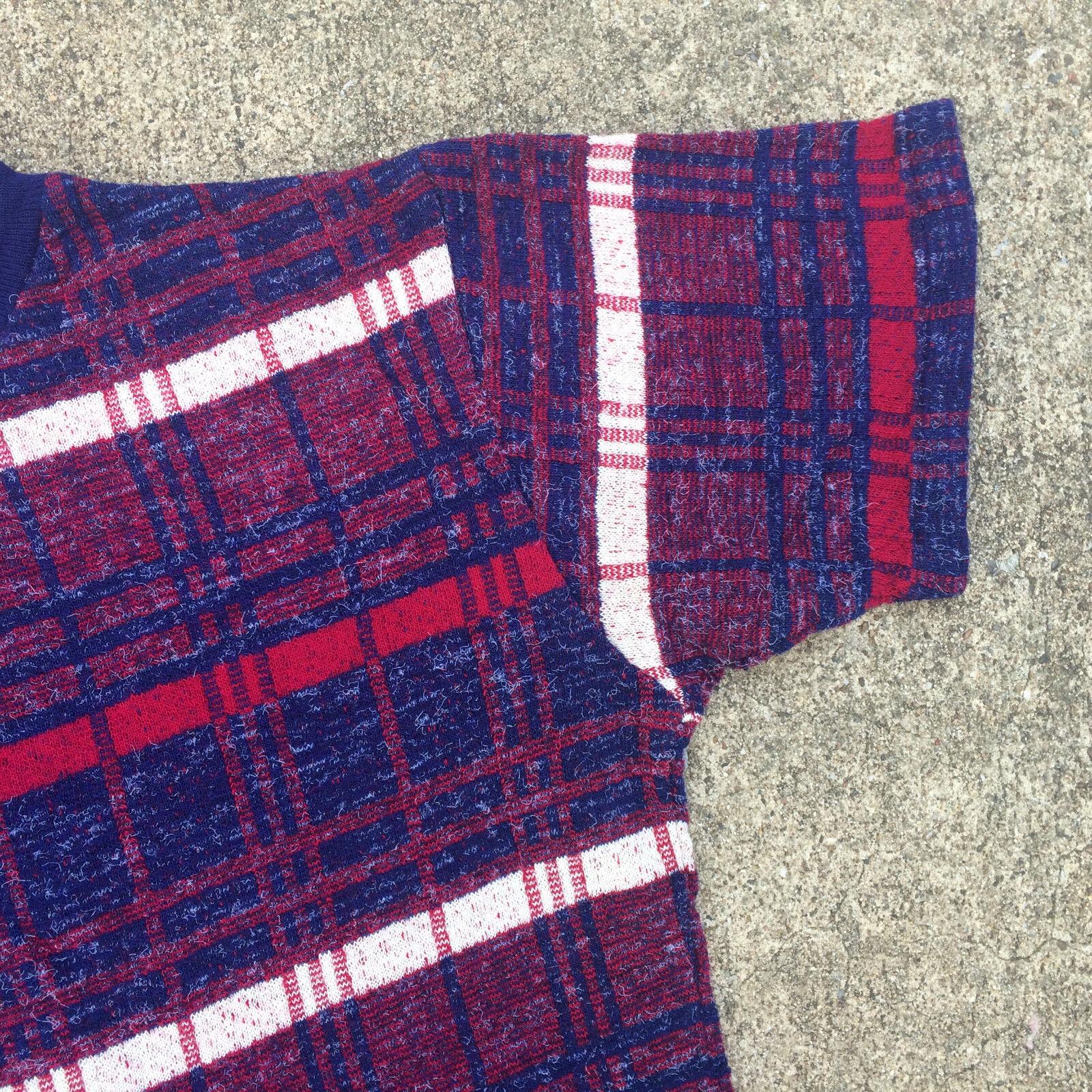 Rare Knit Vintage 1950's 60s Surf Stripe Blank T … - image 3