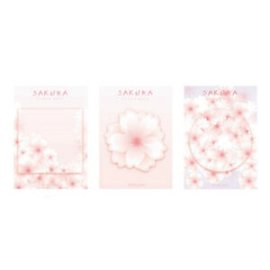 Pink Sakura Memo Pad Paper Sticky Notes Post Planner Japanese School Supplies