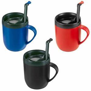 Café Tasse Avec Hot Mug Voyage Afficher Détails Sur Paroi Le Double Splash Couvercle D'origine Cafetiere Thé Titre Zyliss Presse MUzpqVS