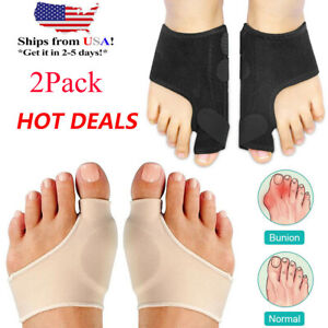 2-Types-Big-Toe-Bunion-Splint-Straightener-Corrector-Hallux-Valgu-Relief-Pain-US