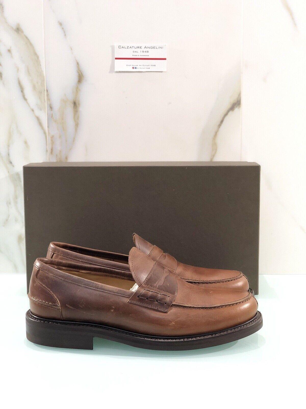 Moccasin Leather Leather Brugnoli Man Dainite British Sun 43 Luxury zapatos