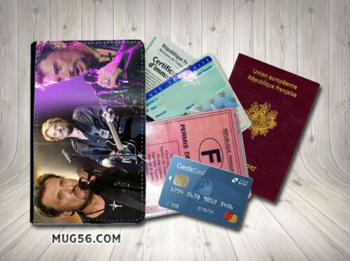 Porte cartes passeport permis johnny hallyday 103
