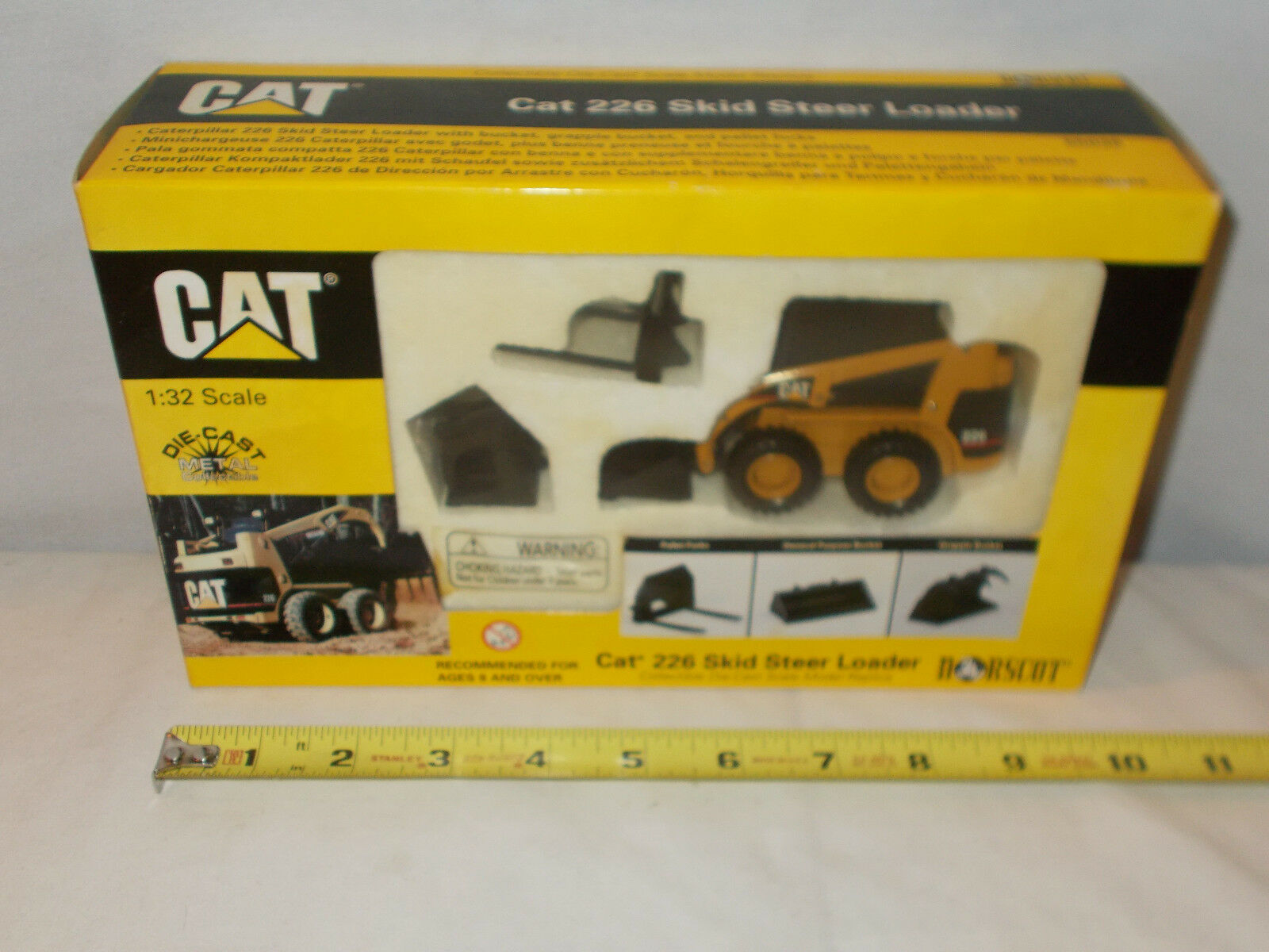 Caterpillar 226 Skid Loader With Work Tools By Norscot Norscot Norscot 1 32nd Scale cfc7a6