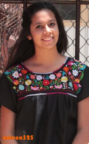 Mexican Blouse Puebla Hand Embroidered Assorted Sizes and Colors