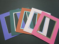 Picture Frame Double Mat 8x10 For 5x7 Photo Custom Set Of 5 Special Colors
