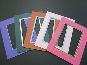 Picture Frame Double Mat 8x10 For 5x7 Photo Custom Set Of