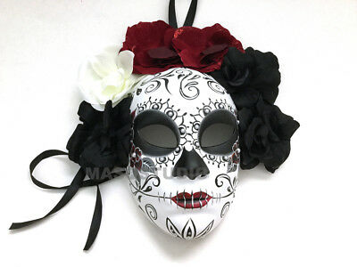 Muertos Day Deco Mexican of Wear Ball Masquerade Mask Costume the D or de Dead 6wqpwEA