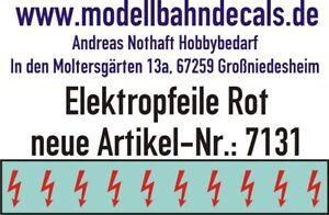 10 Spur 1 rote Elektropfeile 3,9 x 1,5 mm - Decals TOP 032-7131