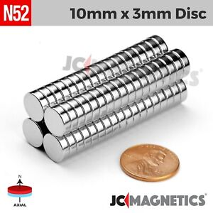 6 mm x 3 mm 1//4in x 1//8in N52 Small Strong Disc Rare Earth Neodymium Magnet