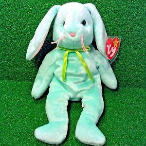 89a6990d68fa74 Very Rare 1996 PE Ty Beanie Baby Hippity Rabbit ORIGIINAL & SUFACE ...