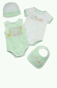 New Baby Girl Infant Gucci Playsuit Bib hat Size 9 -12 Months Gift ... 6b2f8d1dc50