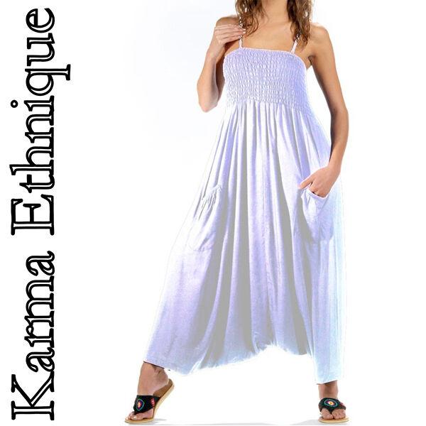 COMBINAISON SAROUEL d'été  (du 34 au 46) Combi Femme Classique Comfortable white