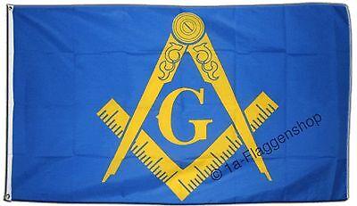 Fahne Flagge Freimaurer - 90 x 150 cm Hissflagge