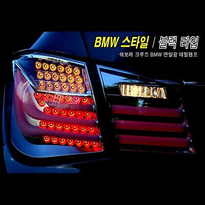 Smoke Type BMW Style V2 LED Tail Lights Rear Lamp For  Chevrolet Cruze 2011~2014